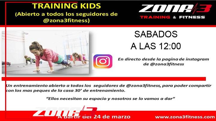 Training kids, este servicio es libre para todos los seguidores de zona3fitness en instagram