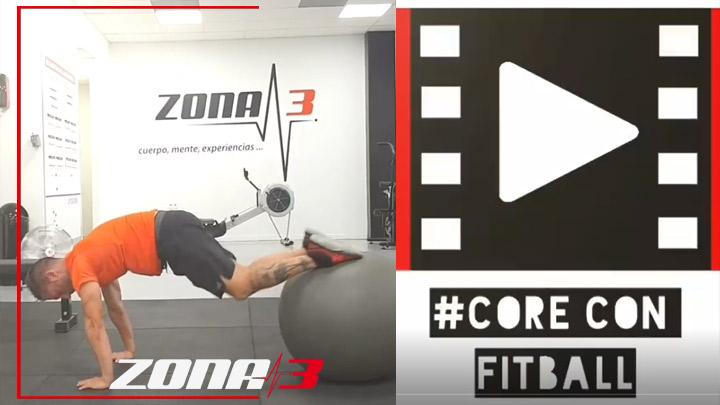 Circuito con el #fitball para trabajar un poco el #core o #abdomen