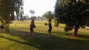 Disfrutando del entrenamiento al aire libre